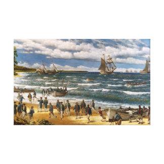 Batalla de Nassau, impresión del arte de la lona Impresión En Lona