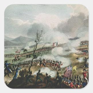 Batalla de Nivelle, grabada por Thomas Pegatina Cuadradas