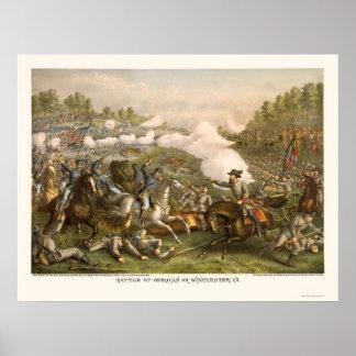 Batalla de Opequan de Kurz y de Allison 1864 Póster