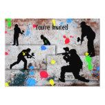 Batalla de Paintball Invitacion Personalizada