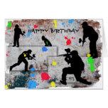 Batalla de Paintball Tarjeta De Felicitación