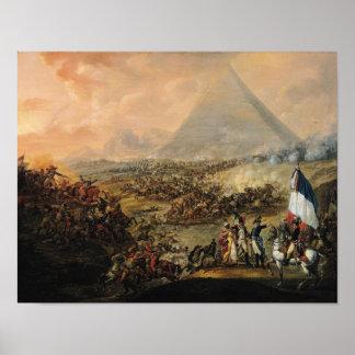 Batalla de pirámides, el 21 de julio de 1798 póster