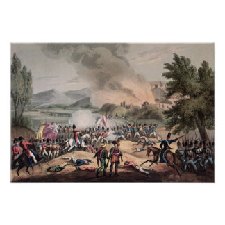 Batalla de Pombal, grabada por Thomas Sutherland Póster