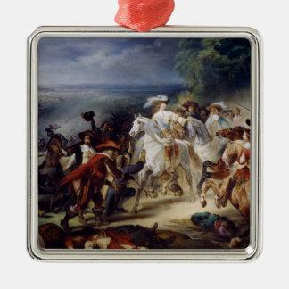Batalla de Rocroy, el 19 de mayo de 1643, 1834 Adorno Navideño Cuadrado De Metal