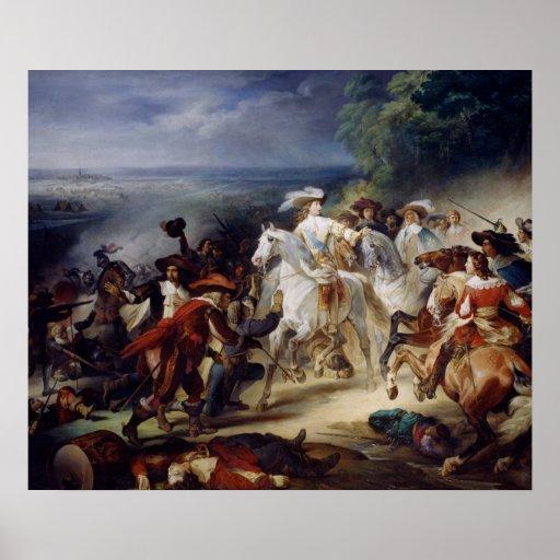 Batalla de Rocroy, el 19 de mayo de 1643, 1834 Poster