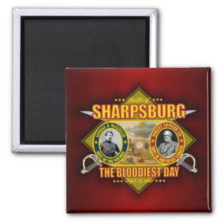 Batalla de Sharpsburg (Antietam) Imán Cuadrado