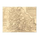 Batalla de Shiloh - mapa panorámico 2 de la guerra Impresion De Lienzo