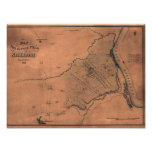 Batalla de Shiloh - mapa panorámico 2 de la guerra Poster