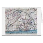 Batalla de Shiloh - mapa panorámico de la guerra c Tarjeta
