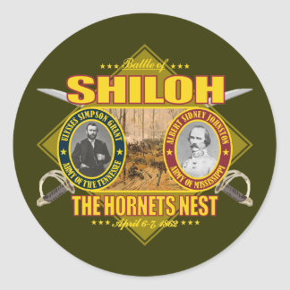 Batalla de Shiloh Pegatina Redonda