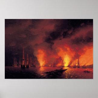 Batalla de Sinop en la noche Póster