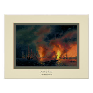 Batalla de Sinop~ Ivan Aivazovsky Poster