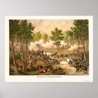 Batalla de Spottsylvania de Kurz y de Allison 1864 Póster