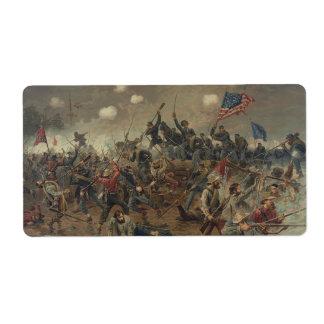 Batalla de Spottsylvania de L. Prang y Co. (1887) Etiquetas De Envío