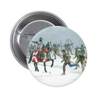 Batalla de Towton 1461 Pin Redondo De 2 Pulgadas