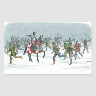 Batalla de Towton 1461 Rectangular Pegatina