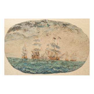 Batalla de Trafalgar 1805 1998 Cuadro De Madera