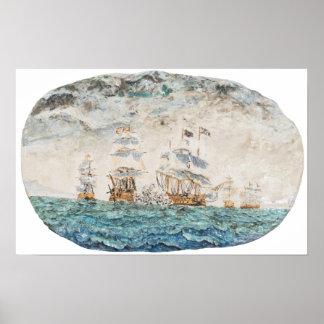 Batalla de Trafalgar 1805 1998 Póster