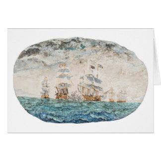Batalla de Trafalgar 1805 1998 Tarjeta De Felicitación