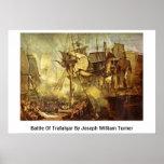 Batalla de Trafalgar de José Guillermo Turner Poster