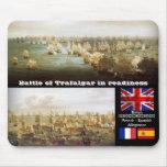 Batalla de Trafalgar en la disposición Alfombrillas De Ratón