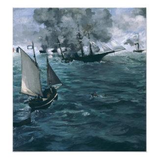 Batalla de USS Kearsarge y de CSS Alabama por Fotografía