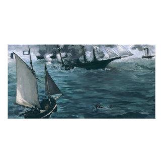 Batalla de USS Kearsarge y de CSS Alabama por Tarjeta Fotográfica