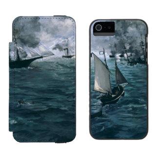 Batalla de USS Kearsarge y de CSS Alabama por Funda Cartera Para iPhone 5 Watson