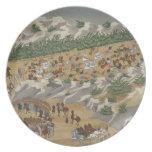 Batalla de Vasilika en 1821, de la revista ilustra Plato Para Fiesta