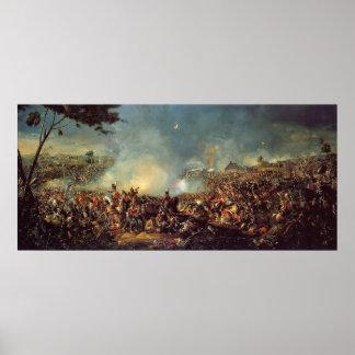 Batalla de Waterloo de Guillermo Sadler Póster