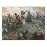 Batalla de Waterloo, el 18 de junio de 1815, 1898 Impresión En Madera