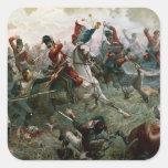 Batalla de Waterloo, el 18 de junio de 1815, 1898 Pegatina Cuadrada