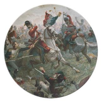 Batalla de Waterloo, el 18 de junio de 1815, 1898  Plato De Comida