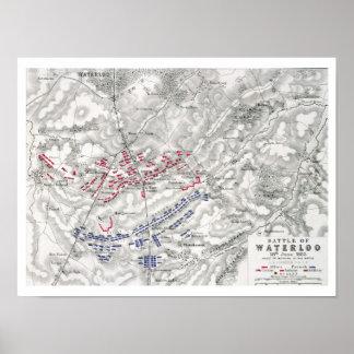 Batalla de Waterloo, el 18 de junio de 1815, hoja  Póster