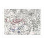 Batalla de Waterloo, el 18 de junio de 1815, hoja  Tarjeta Postal
