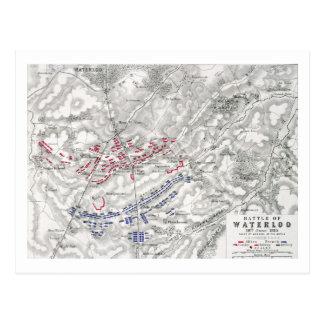 Batalla de Waterloo, el 18 de junio de 1815, hoja Postal