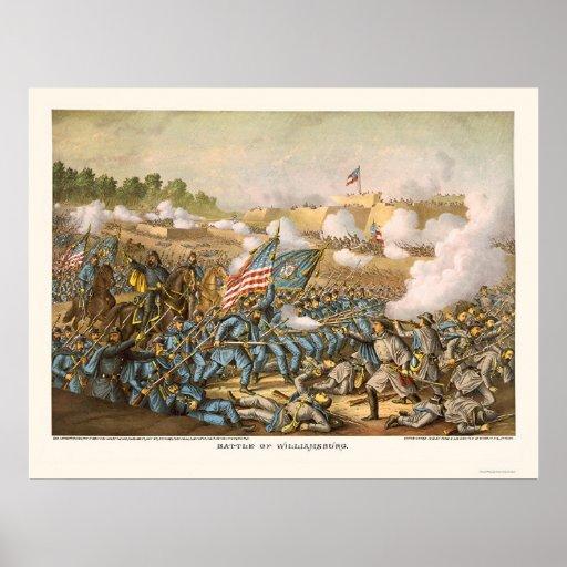 Batalla de Williamsburg de Kurz y de Allison 1862 Póster