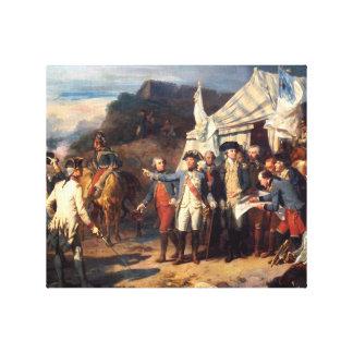 Batalla de Yorktown, impresión de la lona Lona Envuelta Para Galerias