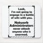 Batalla del administrador de red de los ingenios tapetes de ratón