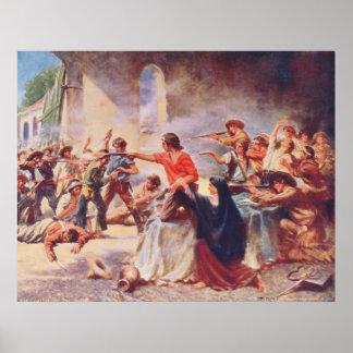 Batalla del Álamo de Percy Moran Póster