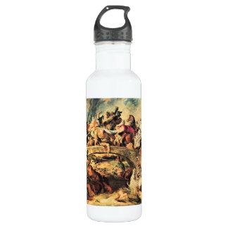 Batalla del Amazonas de Paul Rubens Botella De Agua De Acero Inoxidable