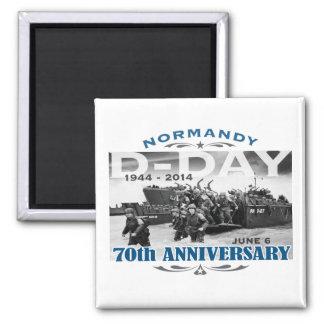 Batalla del aniversario del día D 70.o de Normandí Imán Cuadrado