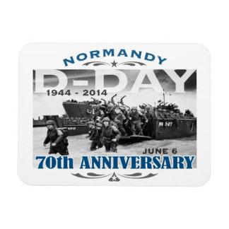 Batalla del aniversario del día D 70.o de Normandí Imán Rectangular