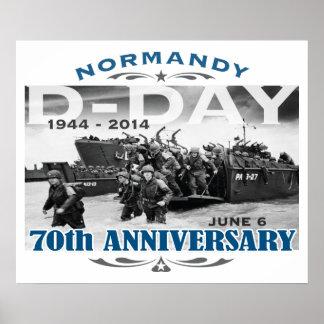 Batalla del aniversario del día D 70.o de Normandí Poster