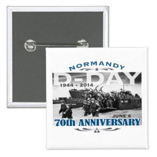 Batalla del aniversario del día D 70.o de Normandí Pin Cuadrada 5 Cm