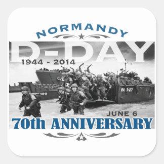 Batalla del aniversario del día D 70.o de Pegatina Cuadrada