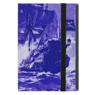 BATALLA del BARCO PIRATA EN azul iPad Mini Cárcasas