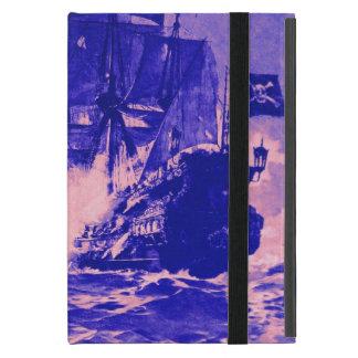 BATALLA del BARCO PIRATA EN azul púrpura iPad Mini Coberturas