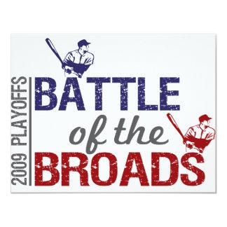 """Batalla del Broads Invitación 4.25"""" X 5.5"""""""