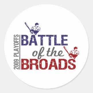 Batalla del Broads Pegatina Redonda